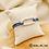 Thumbnail: Bracelet Ilio cordon bleu foncé (métal argenté)