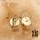 Thumbnail: Boucles d'oreilles Calista (acier chirurgical plaqué or)
