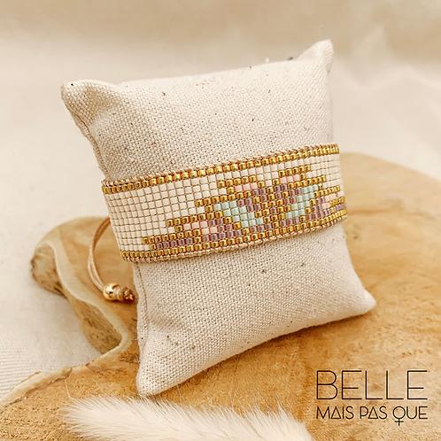 Bracelet Rosa (plaqué or & perles de myuki)