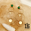 Thumbnail: Boucles d'oreilles Maude (acier chirurgical plaqué or & Malachite)