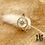 Thumbnail: Bague Polaire (acier chirurgical plaqué or)