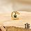 Thumbnail: Bague d'oreille Mallory (acier chirurgical plaqué or & pierre fine)