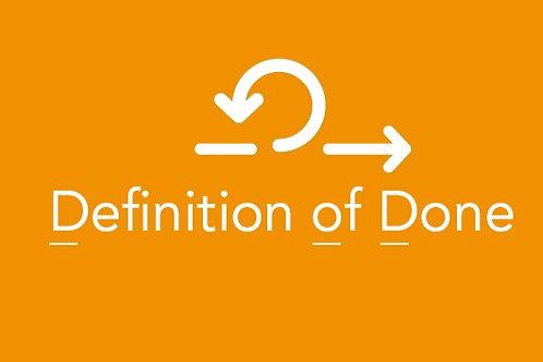 Workshop Het effectief opstellen van een Definition of Done 17 februari 2021