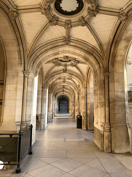 Photograph of corridor at the Houses of Parliament source: Dean Russell