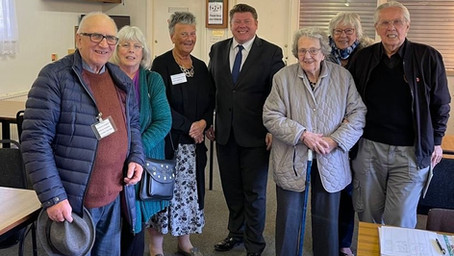 Dean Russell MP Visits New North Watford Veterans Support Group