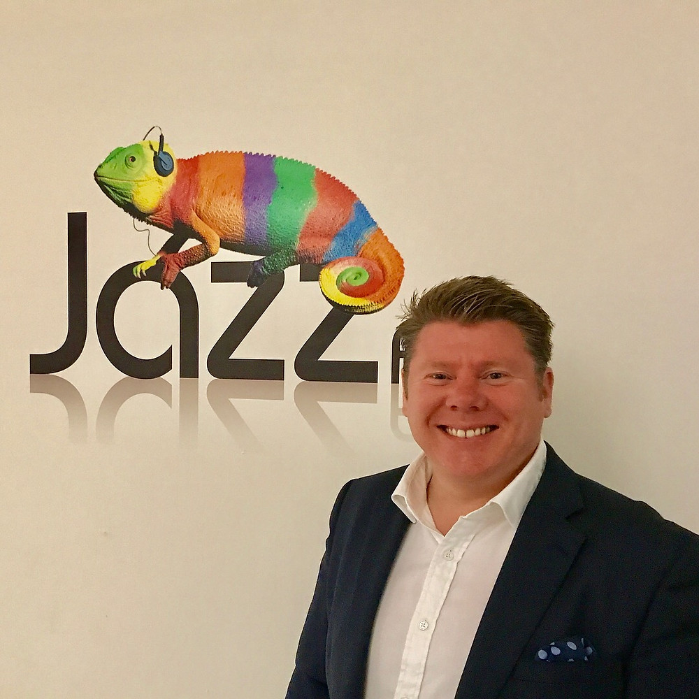 Dean Russell speaking at Jazz FM