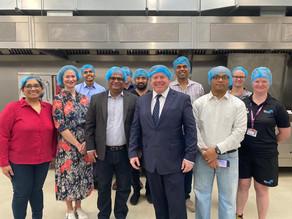 Dean Visits The Akshaya Patra Foundation