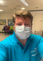 Dean Russell MP Watford wearing a mask