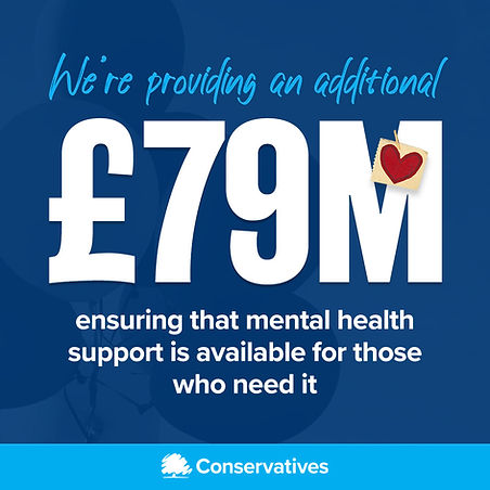 Graphic: We're providing an additional £79m ensuring that mental health support is available