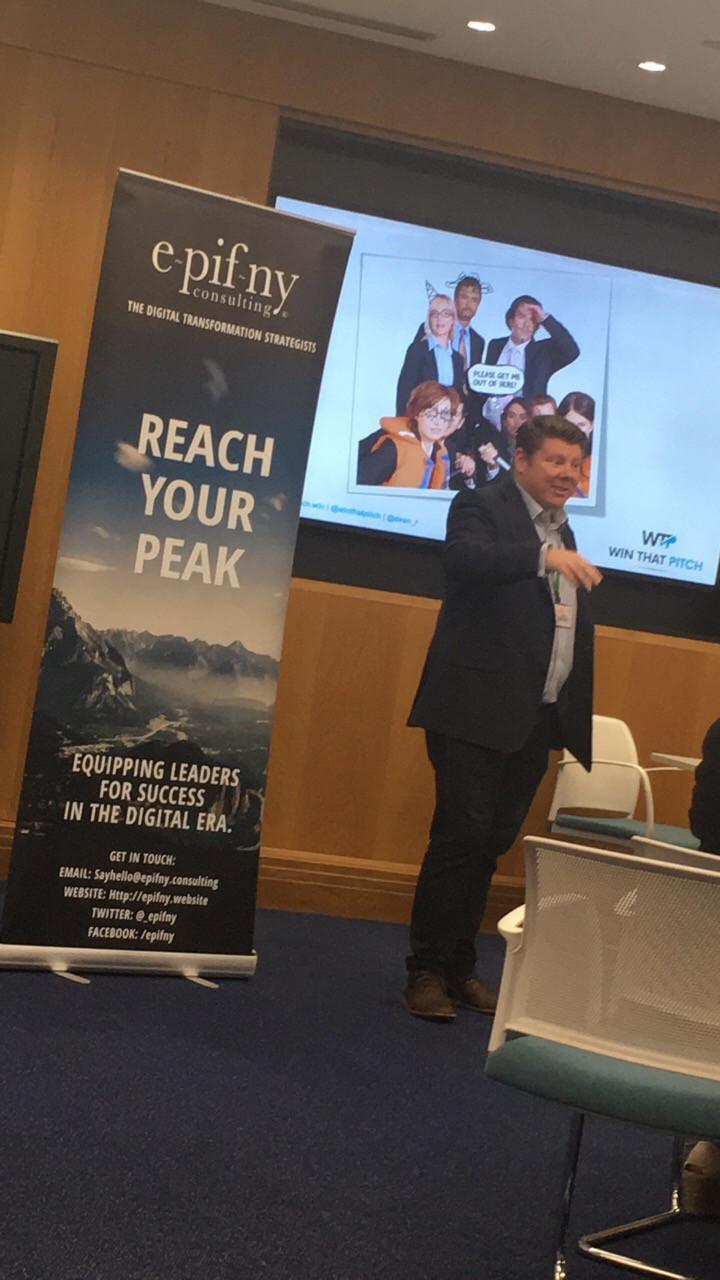 Dean Russell from Epifny Consulting and Win That Pitch speaking at Natwest Event
