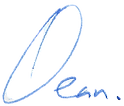 Dean Russell signature