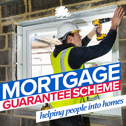 Mortgage Guarantee Scheme graphic - Helping People Into Homes