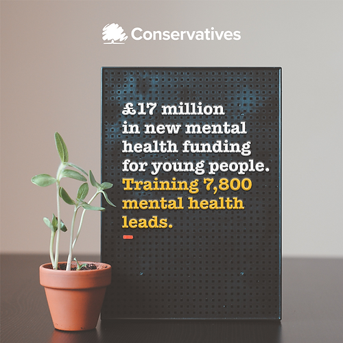 £17m in new mental health funding for young people. Training 7,800 mental health leads.