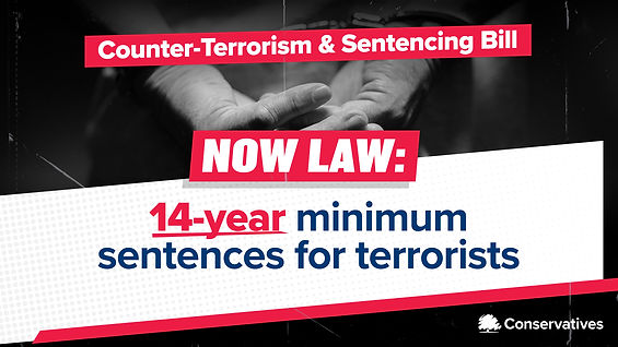 Counter Terrorism and Sentencing Bill: Now Law - 14 year minimum sentencing for terrorists