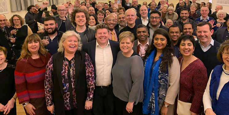 Dean Russell MP with his Watford Conservative Association campaign team