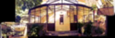 Véranda de style toiture en verre fr forgé