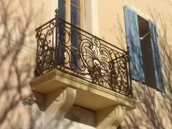 Balcon XVIII forge traditionnelle