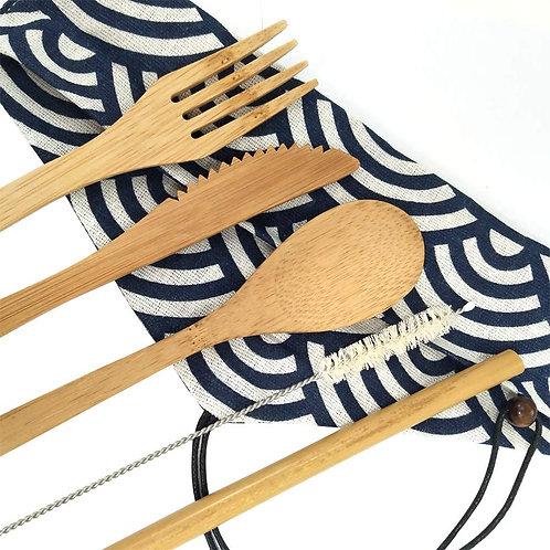Set couverts en bambou - Zéro déchet