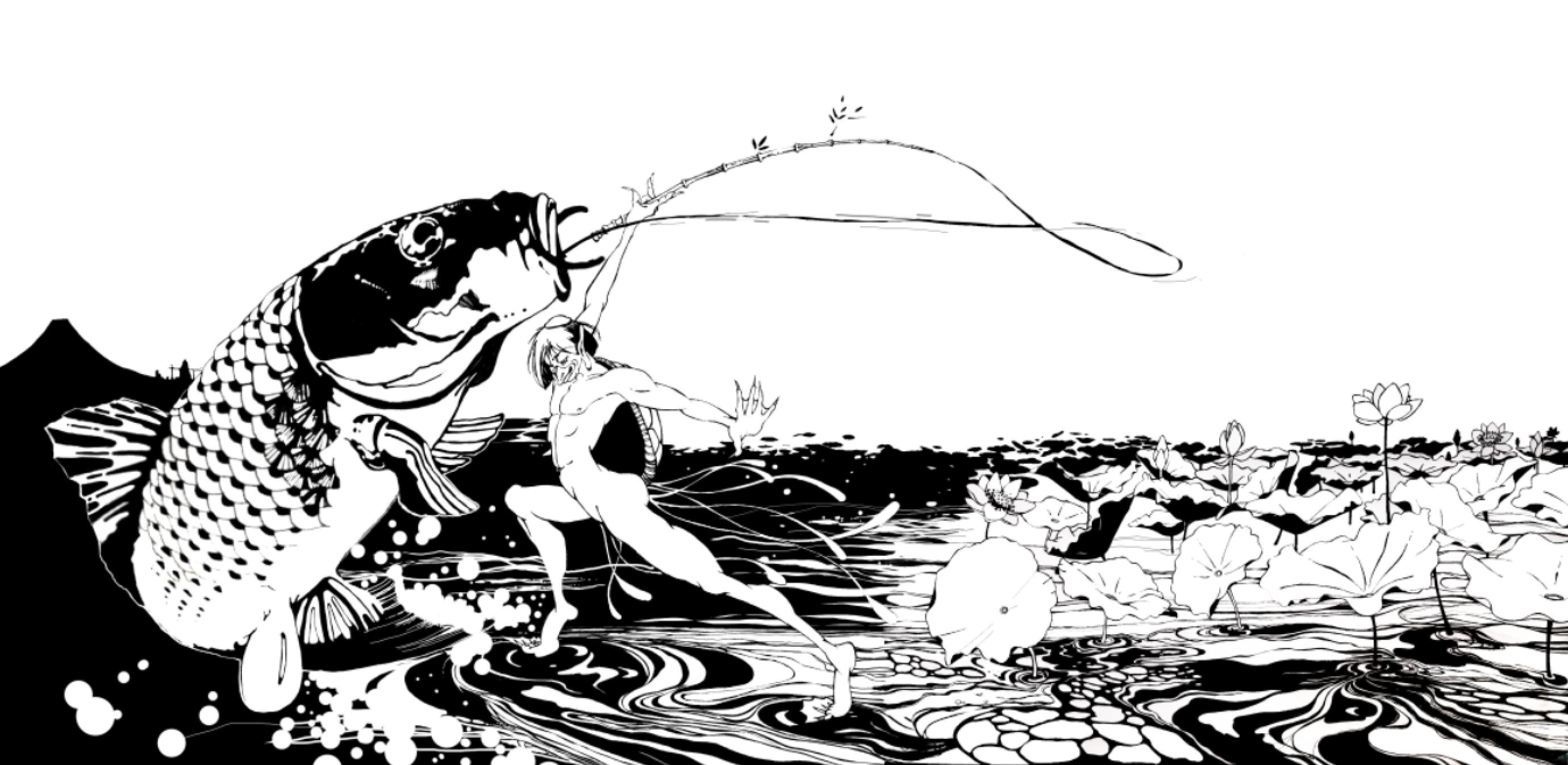『蓮畑と河童』