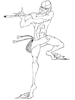 葦笛吹き河童