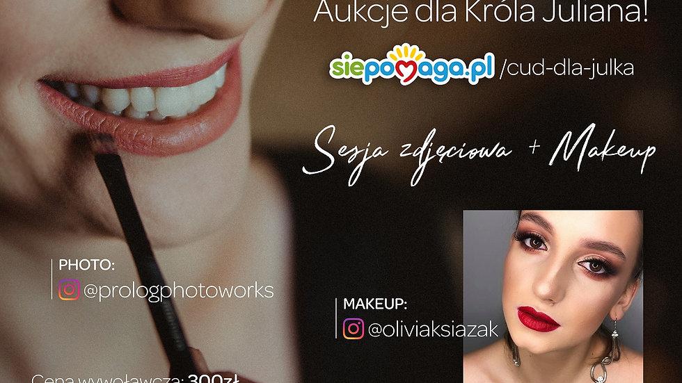 Plenerowa sesja zdjęciowa z profesjonalnym makijażem