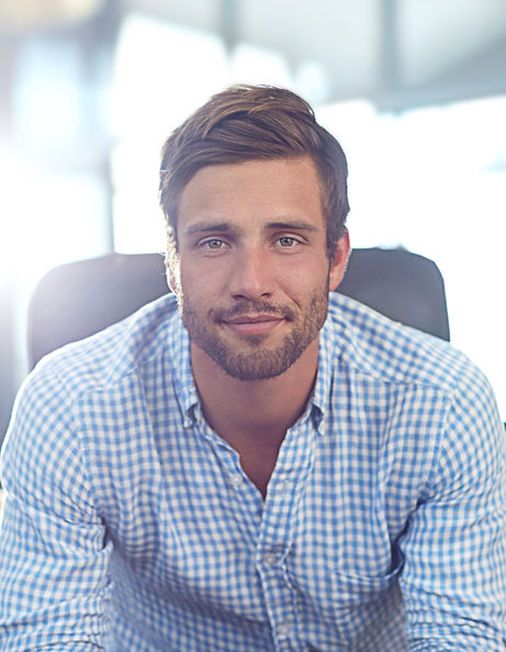 Man with Checkered Shirt