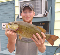 The small mouth bass are plentiful