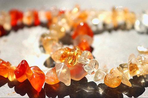 Calcite orange Bracelet baroque