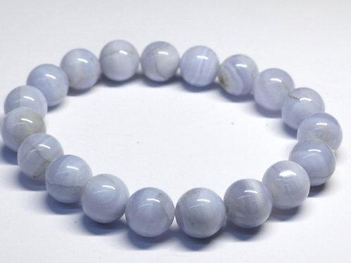 Calcédoine bleue Bracelet perles