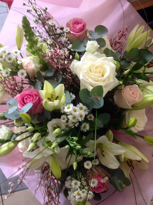 Surprise Rose et blanc