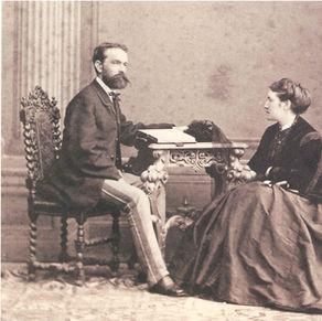 Josef und Gattin Fanny Rheinberger