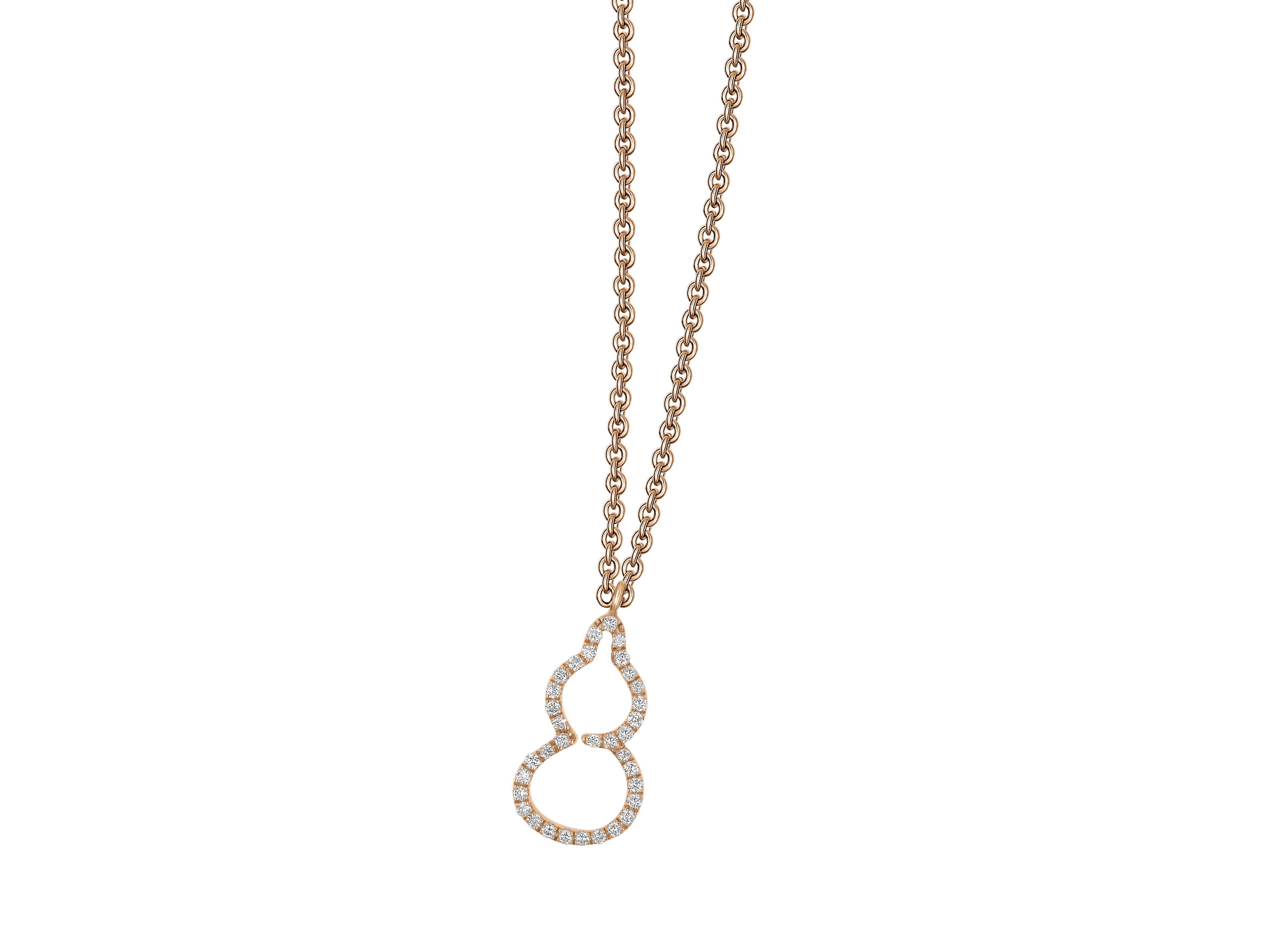 鑽石葫蘆項鍊