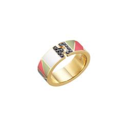 Tangram 'Ai' Ring (round)
