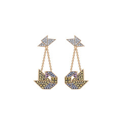 Happy Swan ear-pendants