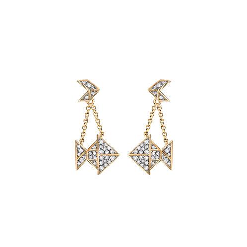 Gold Fish ear-pendants