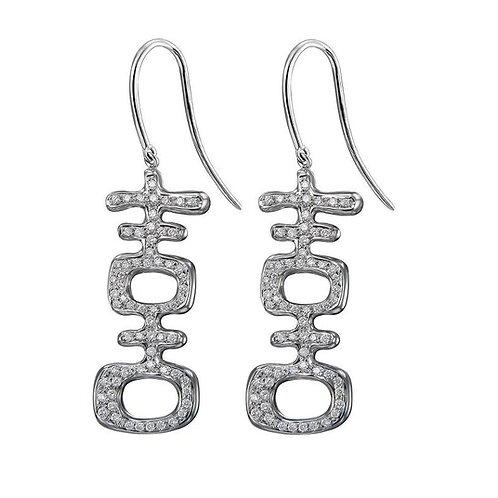 DOUBLE HAPPINESS DIAMOND EARRINGS