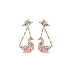 Swan ear-pendants
