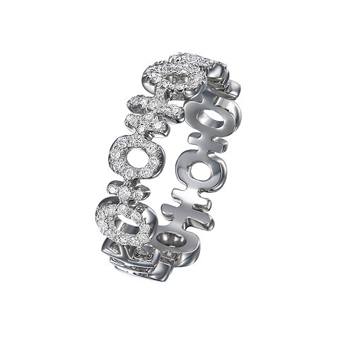 MINI DOUBLE HAPPINESS DIAMOND RING