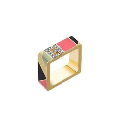 Tangram 'Ai' Ring (square)