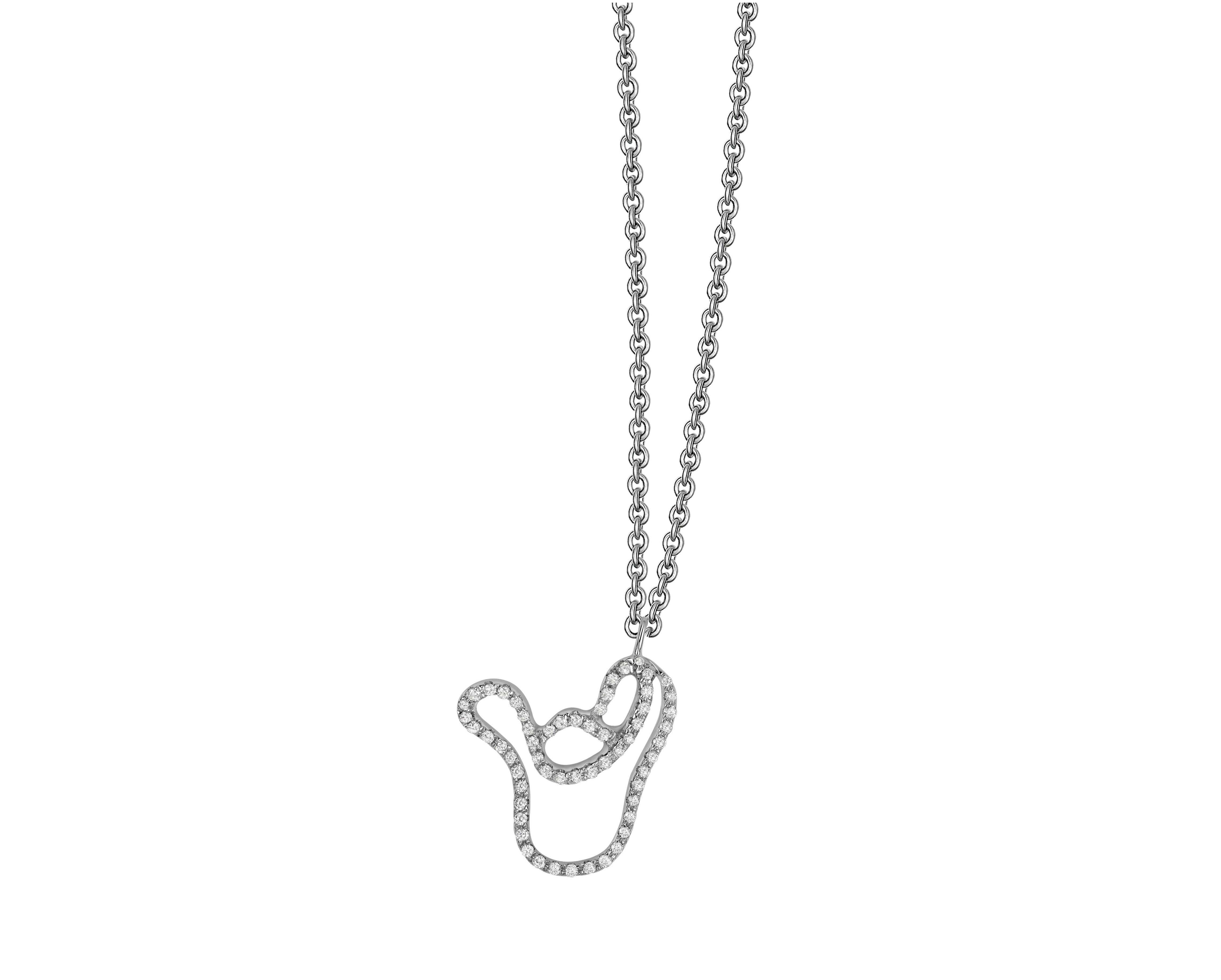 鑽石元寶項鍊