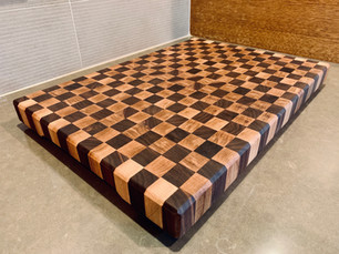 Checkered End Grain Butcher Block