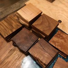 Walnut, White Oak, Maple Coasters