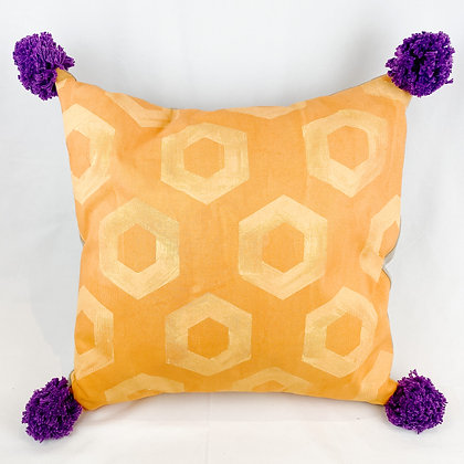 Pillow, Ocher Hexagons