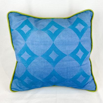 Pillow, Blue Diamonds