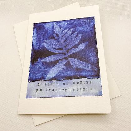 Notecard, A Sense of Wonder