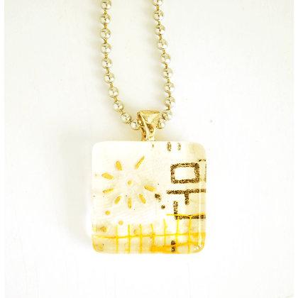 Necklace, Cream Square