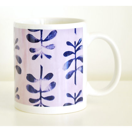 Mug, Purple Ferns