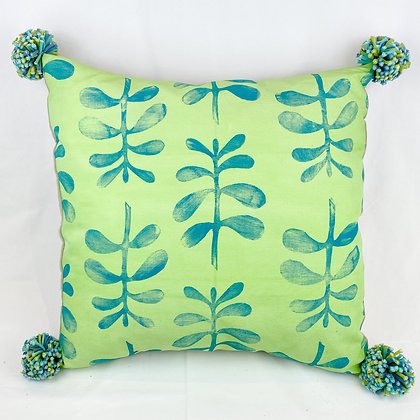 Pillow, Green Ferns