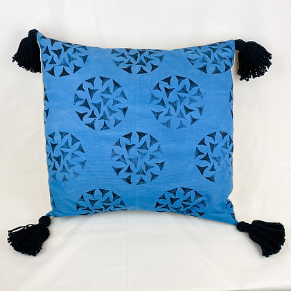Pillow, Blue Dandelions