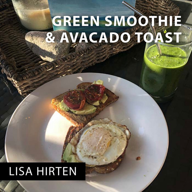 Green Smoothie & Avocado Toast